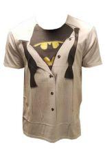 Batman Tričko Logo Suit Velikost L