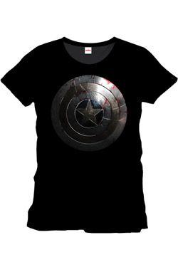 Captain America Tričko Silver Shield Velikost M