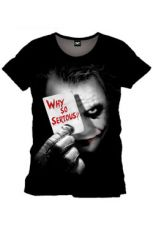 Batman Tričko Why So Serious Velikost L