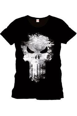 Punisher Tričko Distress Skull Velikost L