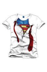 Superman Tričko Clark Kent white Velikost L