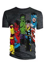 Marvel Comics Tričko Avengers Panel Velikost S