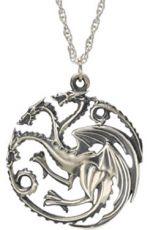 Game of Thrones Přívěsek & Náhrdelník Targaryen Sigil (Sterling Silver)