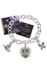 Harry Potter Talisman Náramek Lumos Zmijozel (silver plated)