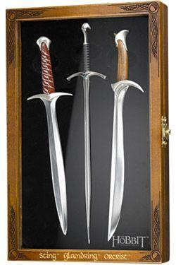 The Hobbit Dopisový Otvírák Set Swords Noble Collection