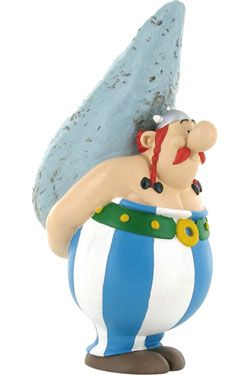 Asterix Figure Obelix with Menhir 12 cm Plastoy
