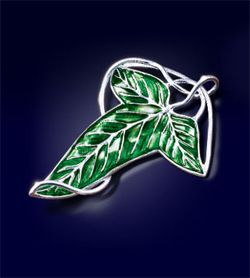 Lord of the Rings Brooch Elven Leaf Brooch (silver plated) Noble Collection