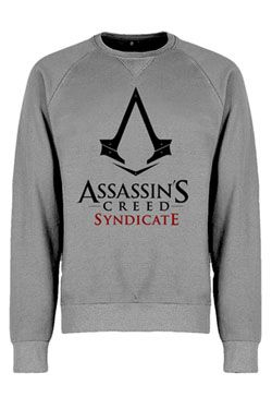 Assassins Creed Syndicate Mikina Logo Grey Velikost L