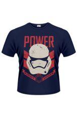 Star Wars Episode VII Tričko Stormtrooper Power First Order Velikost XL