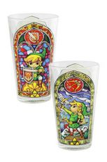 Legend of Zelda Wind Waker Skleněná Pinta Glass Link