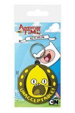 Adventure Time Gumový Přívěsek na klíče Lemongrab Unacceptable 6 cm