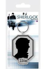 Sherlock Gumový Přívěsek na klíče Silhouette 6 cm