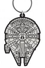 Star Wars Gumový Keychain Millennium Falcon 6 cm