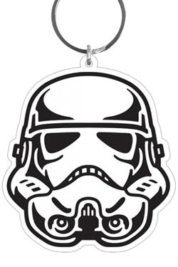 Star Wars Gumový Keychain Stormtrooper 6 cm Pyramid International