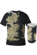 Game of Thrones Tričko Westeros Map Deluxe Edition Velikost S