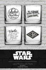 Star Wars Tumbler sklenice 4-Pack Famous Quotes