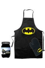 Batman cooking Zástěra with oven mitt Logo