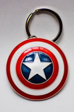 Marvel Comics Metal Keychain Captain America Shield