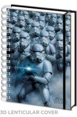Star Wars Poznámkový Blok A5 3D Stormtroopers
