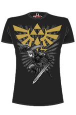 Legend of Zelda Tričko Zelda Warrior black Velikost XL
