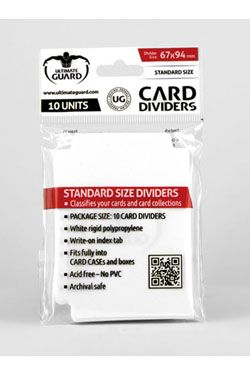 Ultimate Guard Card Dividers Standard Velikost White (10)