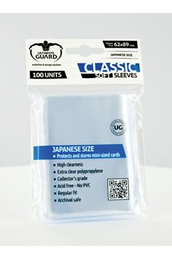 Ultimate Guard Classic Soft Sleeves Japanese Velikost Transparent (100)