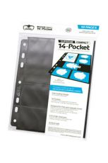 Ultimate Guard 14-Pocket Compact Pages Standard Velikost & Mini American Black (10)