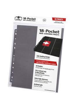 Ultimate Guard 18-Pocket Pages Side-Loading Grey (10)
