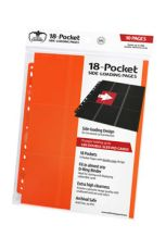 Ultimate Guard 18-Pocket Pages Side-Loading Orange (10)