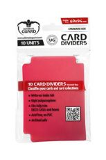 Ultimate Guard Card Dividers Standard Velikost Red (10)