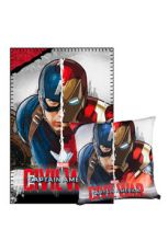 Captain America Civil War Polštář & Fleece Deka Set Captain America & Iron Man
