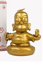 Simpsonovi Vinyl Figure Golden Buddha Homer 8 cm