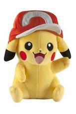 Pokemon Plyšák Figure Pikachu a Ash Kšiltovka 26 cm
