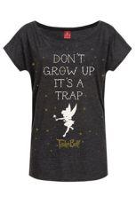 Disney Dámské Tričko Don't Grow Up Velikost M