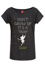 Disney Dámské Tričko Don't Grow Up Velikost S