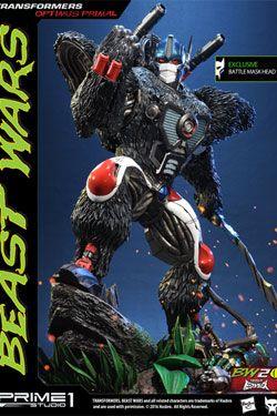 Transformers Beast Wars 1/3 Sochy Optimus Primal & Optimus Primal Exclusive 63 cm Sada (3)