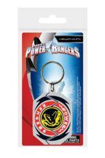 Power Rangers Gumový Keychain T-Rex Morphin Odznak 6 cm