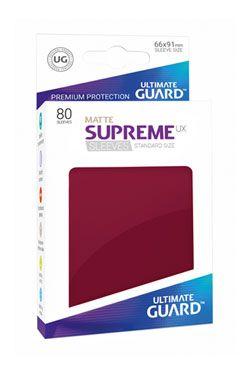 Ultimate Guard Supreme UX Sleeves Standard Velikost Matte Burgundy (80)