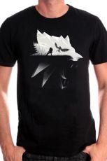 Witcher Tričko Wolf Silhouette Velikost L