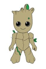 Guardians of the Galaxy Vol. 2 Phunny Plyšák Figure Kid Groot 18 cm