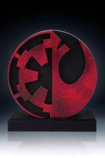 Star Wars Bookends Imperial/Rebel Logo 15 cm