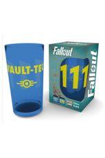 Fallout Premium Skleněná Pinta Glass Vault 111