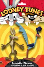 Looney Tunes Ohebná Figures 2-Pack Roadrunner & Wile E Coyote 15 cm