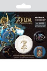 The Legend of Zelda Breath of the Wild Pin Placky 5-Pack Z Emblem