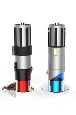 Star Wars Salt & Pepper Mills Lightsaber Uncanny Brands