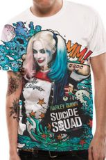 Suicide Squad Sublimation Tričko Grafitti Velikost XXL