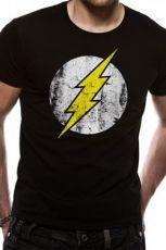 The Flash Tričko Distressed Logo Velikost L