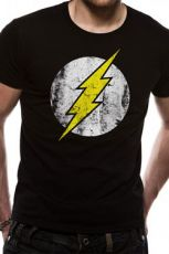 The Flash Tričko Distressed Logo Velikost XXL