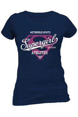 DC Comics Dámské Tričko Supergirl Athletics Velikost M