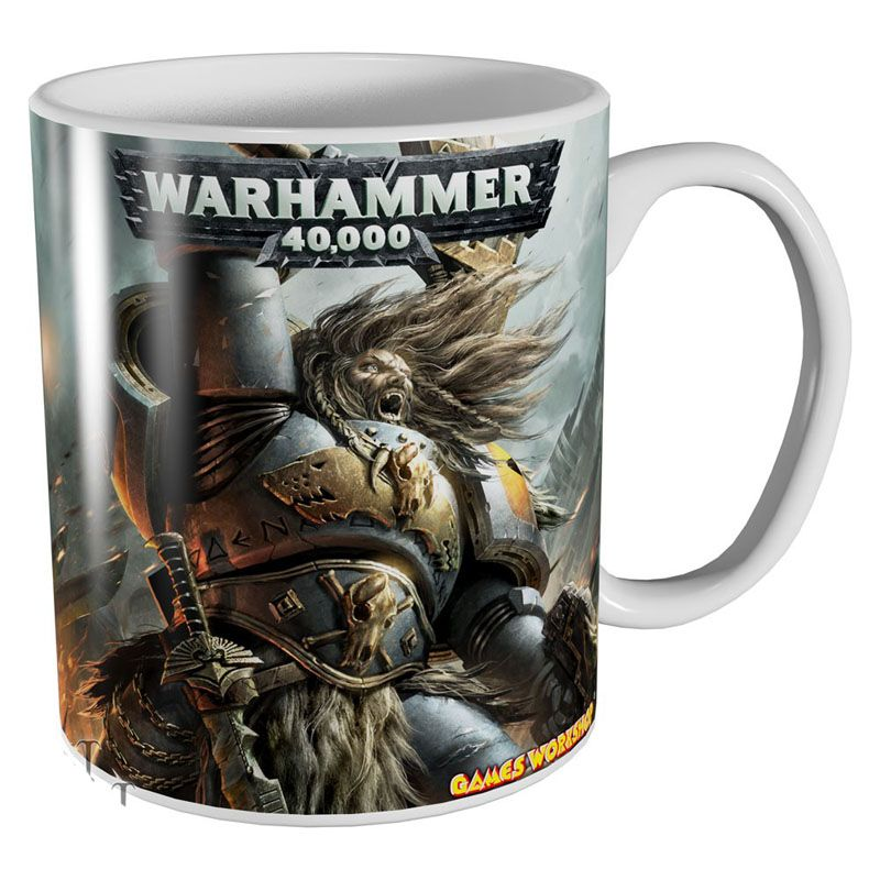 Warhammer 40000 hrnek s potiskem Space Wolves